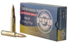 Cartouche calibre .308 winchester