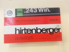 Cartouches de chasse marque HIRTENBERGER calibre 243 winchester
