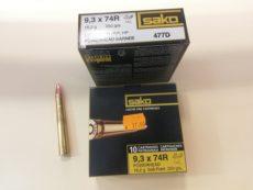 Cartouches de chasse marque SAKO, calibre 9,3 x 74R