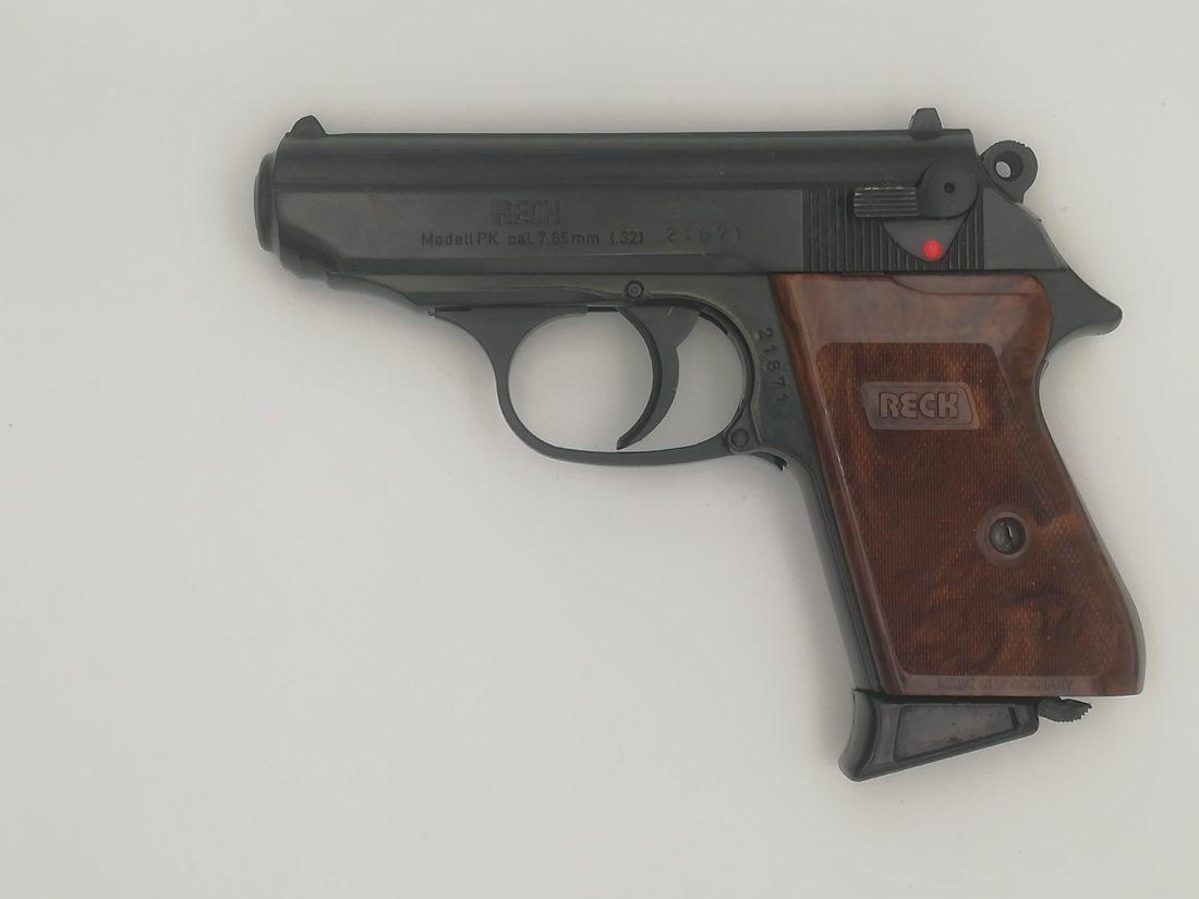 Pistolet semi automatique RECK modèle PP, calibre 7,65 Browning