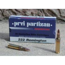 cartouche calibre .222 Remington, (5,6x43) FMJ marque PPU