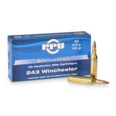 cartouche calibre .243 winchester Soft point marque PPU