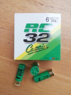 Cartouches marque RC, série CACCIA, calibre 12, T2, 32 grammes