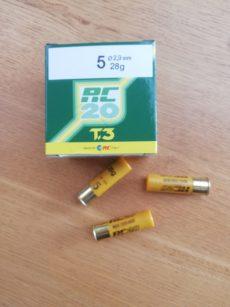 Cartouches marque RC, série CACCIA, calibre 20, T3, 28 grammes