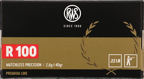 Cartouches à percussion annulaire de marque RWS, Premium Line, R100