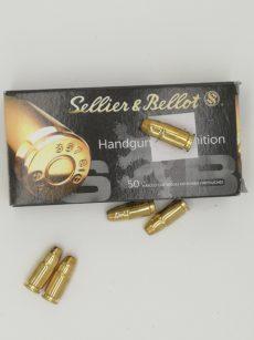 Cartouche calibre .357 SIG, 140 grains FMJ, marque Sellier et Bellot