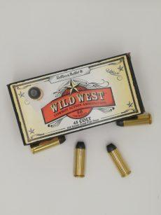 Cartouche calibre 45 Long Colt, 250 grains LFN, marque Sellier et Bellot