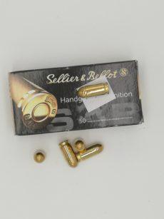 Cartouche calibre 9mm MAKAROV, 95 grains FMJ, marque Sellier et Bellot