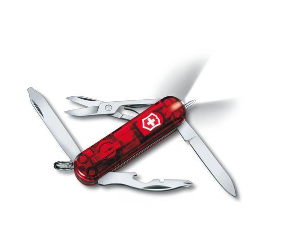 Victorinox couteau de poche Midnite Manager rouge Transparent