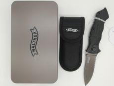 couteau WALTHER Pro Black Tac, manche en polymère