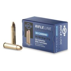 Cartouche calibre .30M1 carbine, ogive 110 grains FMJ RN, marque PPU